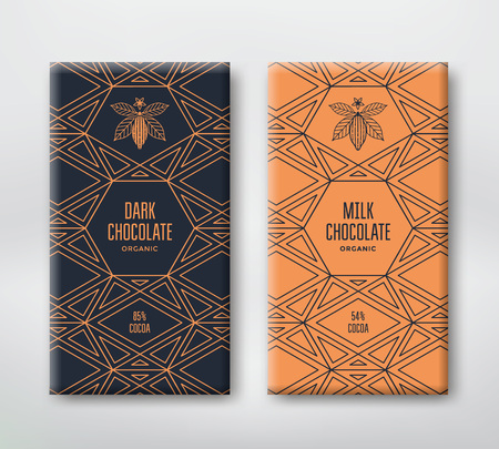 Set realistic vector vertical chocolate banners