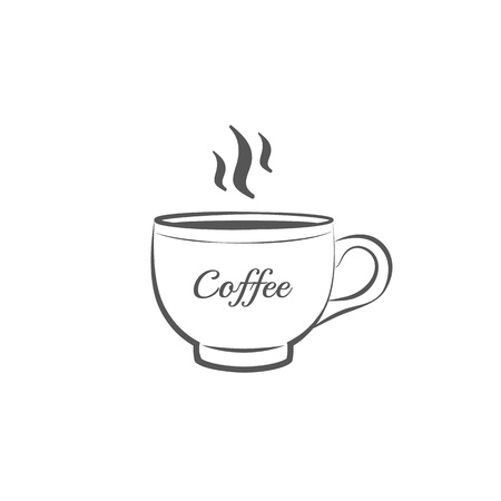 Coffee cup icon or sign Line vector illustration