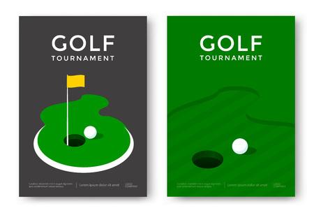 Conception d'affiche de golf Banque d'images - 87279652
