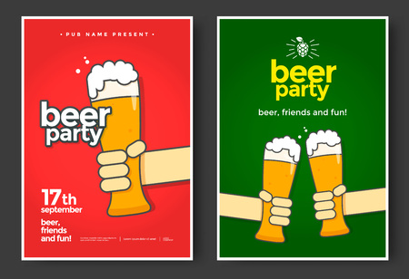 Beer party banner.