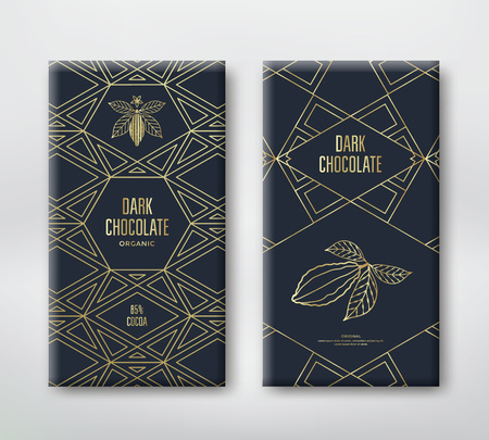 Chocolate packaging design. Ilustracja