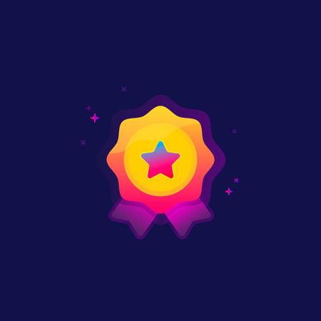 Colored award clip-art illustration. Illusztráció