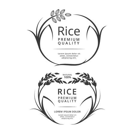 Rijst label producten.