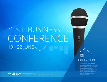 Business conference template illustration.