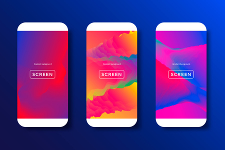 Abstract backgrounds for mobile phones Illustration