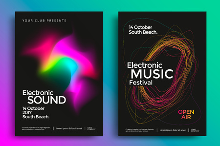 Electronic music festival poster Vectores