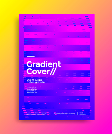 Creative design poster with vibrant gradients. Colorful brigth backgrounds. Vector template