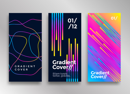 Creative design poster with vibrant colorful gradients