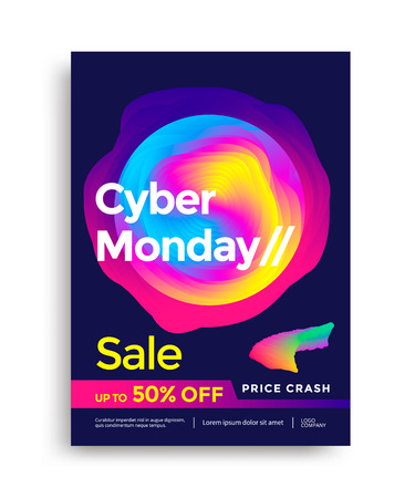 Cyber Monday Sale poster card with colorful design