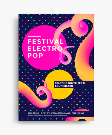 Creative design poster with vibrant gradients. Colorful bright backgrounds for flyer, cover, brochure. Vector template Illusztráció