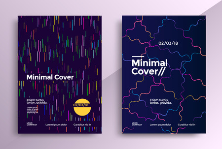 Set of minimal cover designs of colorful geometric lines.