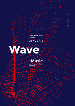 Futuristic dynamic wave dots pattern. Sound vector background.