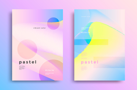 Pastel gradient covers vector illustration