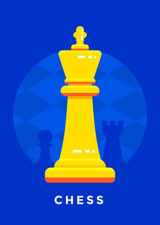 Chess sport poster design