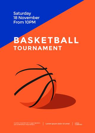 Basketball tournament poster