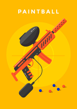 Paintball sport poster 版權商用圖片