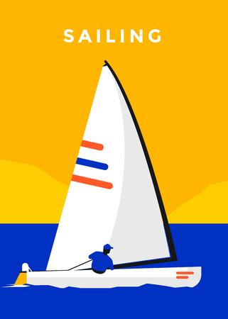 Sailing sport poster