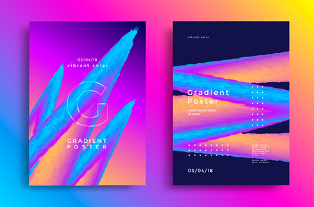 Creative design poster with vibrant gradients Stock fotó - 105551944
