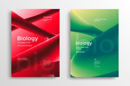 Biology modern poster design Stock fotó - 105551945
