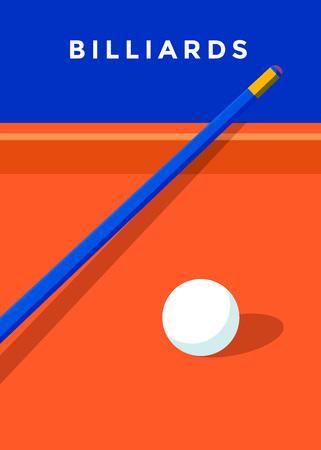 Billiard sport poster Stock Illustratie