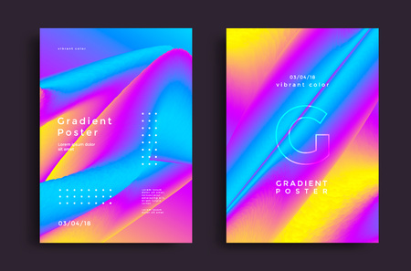 Creative design poster with vibrant gradients. Colorful bright backgrounds. Vector template for flyer, cover design. Stock fotó - 115019805