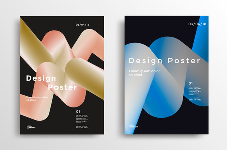 Modern design poster with vibrant gradients shapes. Retro color backgrounds for flyer, cover, brochure. Vector template