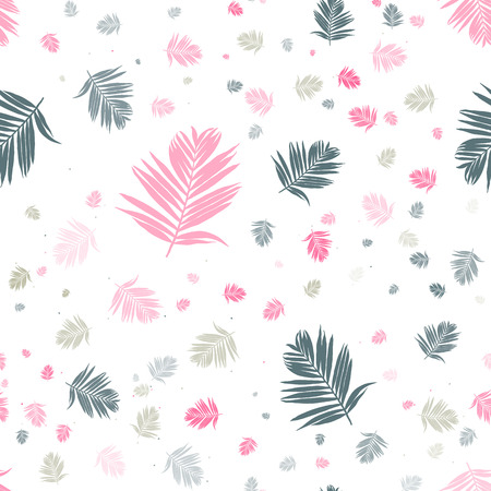 Tropical leaves seamless pattern. Vector background design Stock fotó - 109926189