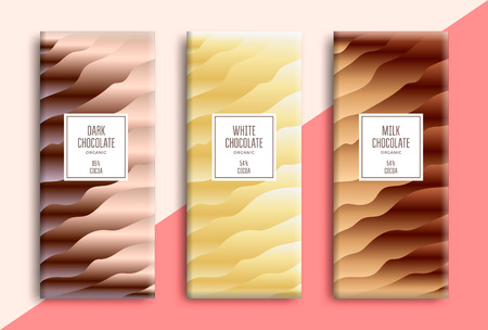 Chocolate bar packaging design. Gradient sweet background for package product. Vector template Stock fotó - 127370153