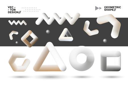 Blend geometric shapes set. Modern elements for design. Ilustracja