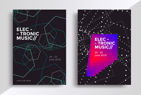 Sound flyer with abstract geometric line shapes