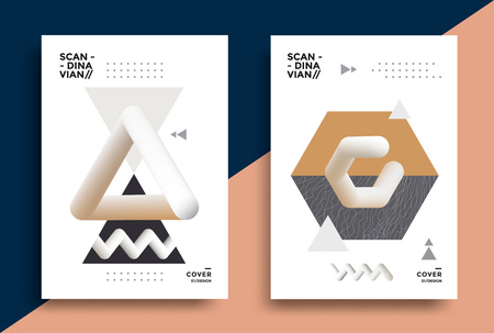 Creative design poster with graphic geometric art Stock fotó - 117412146