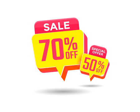 Special offer sale label. Discount offer tag. Vector banner bargain price.