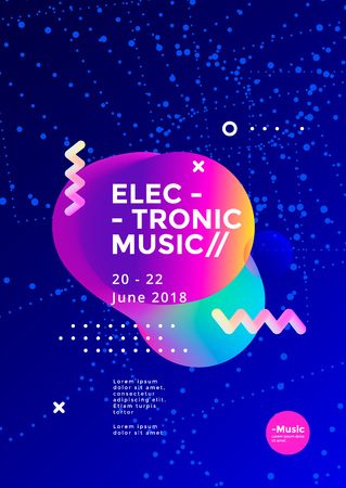 Electronic Music poster design. Stock fotó - 117412148