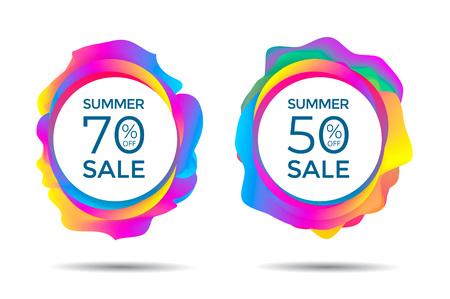 Summer Sale label Ilustracja