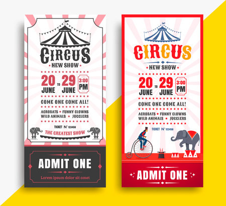 Circus show tickets Stockfoto - 120256446
