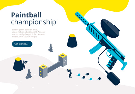 Paintball championship banner Stock Illustratie