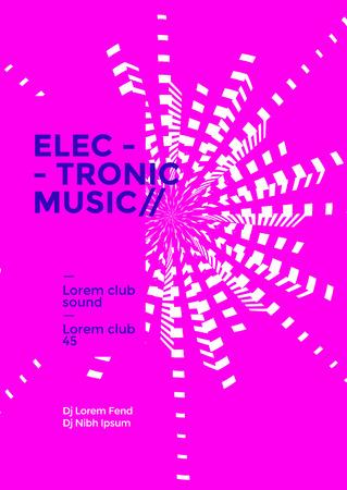 Poster für elektronische Musik Music Vektorgrafik