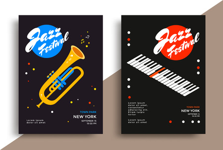 Jazz music festival poster Banque d'images - 122398375