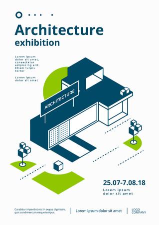 Architecture exhibition cover Ilustracja