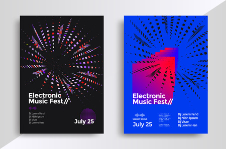 Music geometric poster Vectores