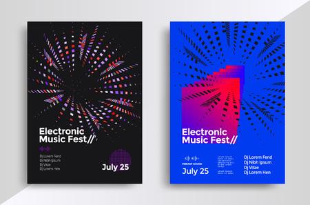 Music geometric poster Illustration