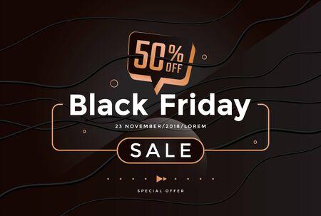 Black Friday sale modern poster design template
