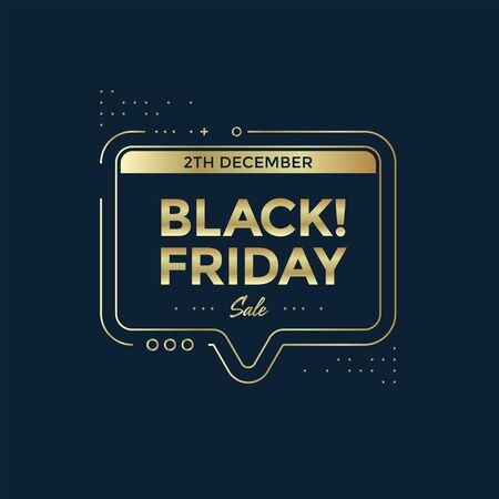 Black Friday sale poster design. Sale banner