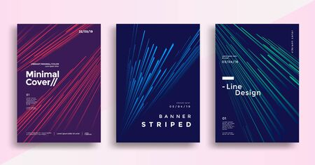Minimal dynamic covers design with color simple line. Иллюстрация