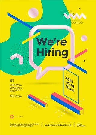 We are hiring poster or flyer design Illusztráció