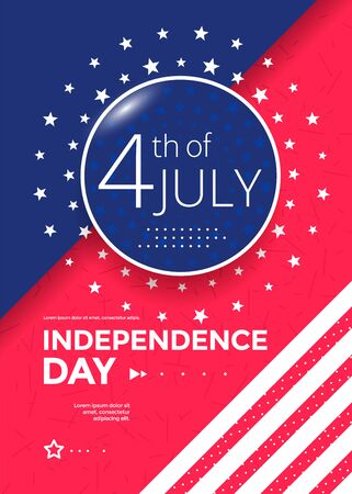 Fourth of July holiday poster design