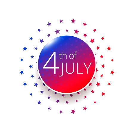 Fourth of July Independence Day label.