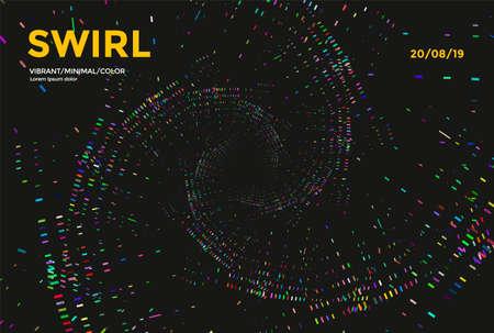 Swirl or spiral colorful abstract background. Vector Minimal cover design. Illusztráció