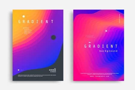 Fluid Gradient modern poster design template. Abstract fluid flyer with colorful liquid shapes. Vector graphic illustration Illusztráció