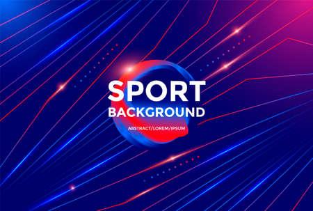 Modern Sport poster design with dynamic gradients Illusztráció